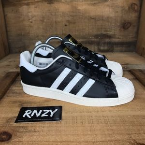 NEW Adidas Superstar 80s Shell Toe Black White